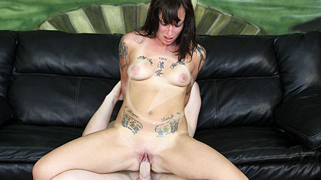 Kathryn Riding a Cock on Facial Abuse